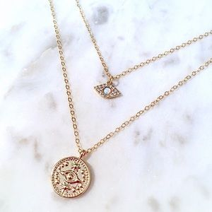 Jewelry - Evil Eye Coin Necklace